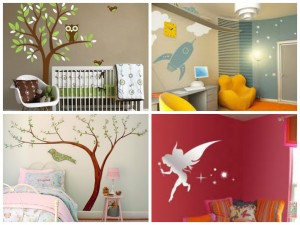 Wall decals that grow with them
