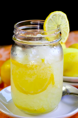 homemade lemonade looks and tastes great, too