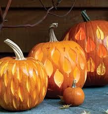Tear drop carved pumpkin