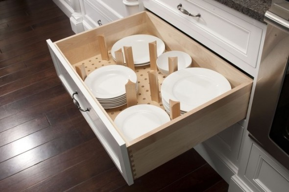 bottom drawer dish storage