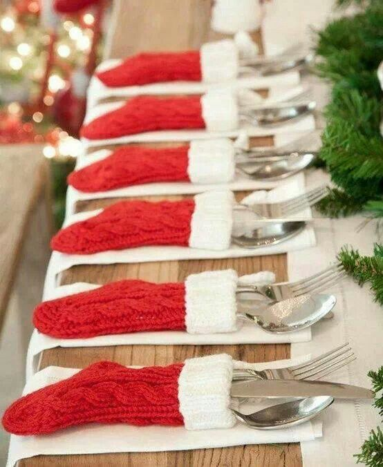 Stocking napkins