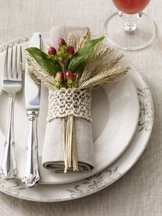 Wheat & Cranberry Napkin