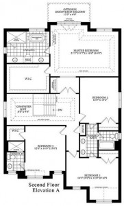 The Amberly Second Floor Plan