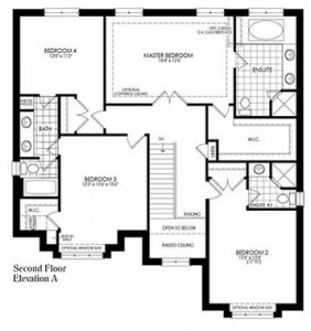 Second Floor Plans - The Cambridge