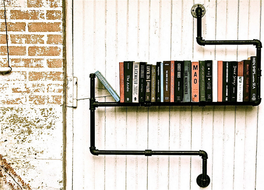 3 ideas to shake up the bookshelves for Diy industrial bookshelf