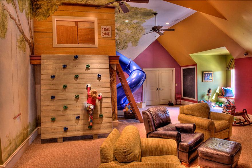 A Secret Adventurous Treehouse Play Room is