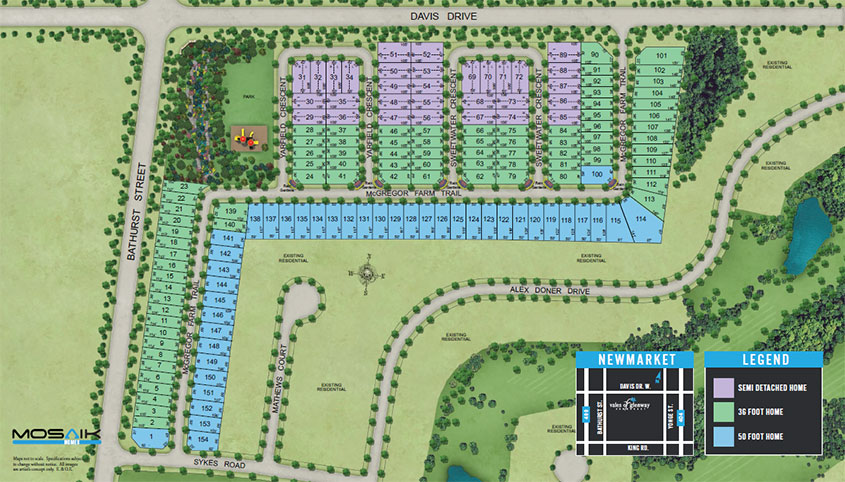 Mosaik Homes  Vales of Glenway  Site Plan